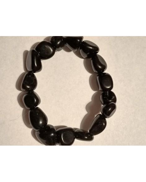 Black Obsidian Stone Chunky Bracelet