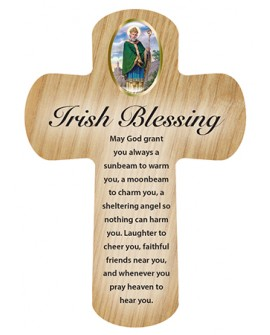 St Patrick's Day Irish Blessing Pocket Cross