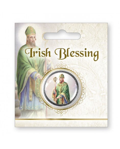 St Patrick's Day  Irish Blessing Pocket Token Green Picture