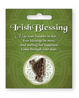 St Patrick's Day Pin Celtic Harp