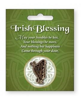 St Patrick's Day Pin Celtic Harp