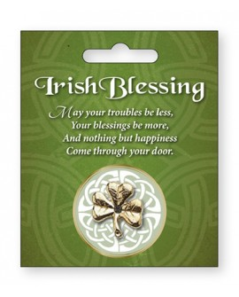 St Patrick's Day Pin Celtic Shamrock