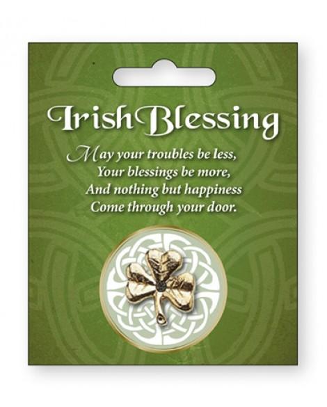 St Patrick's Day Pin Celtic Shamrock