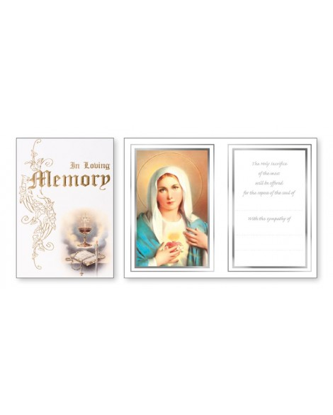 In Loving Memory Mass Card
