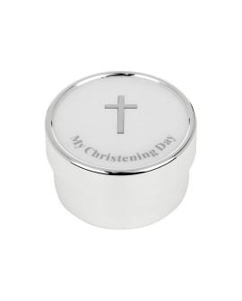 Christening Keepsake Box Silver Plated Large