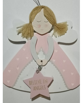 ANGEL BABY WALL PLAQUE SHABBY CHIC BELIEVE IN ANGELS