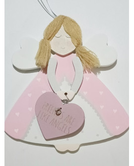 ANGEL BABY WALL PLAQUE SHABBY CHIC FRIENDS ARE LIKE ANGELS