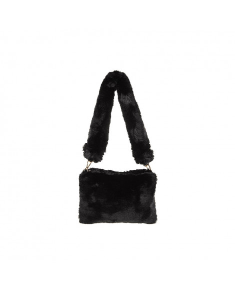 Equilibrium Luxury Faux Fur Handbag Black