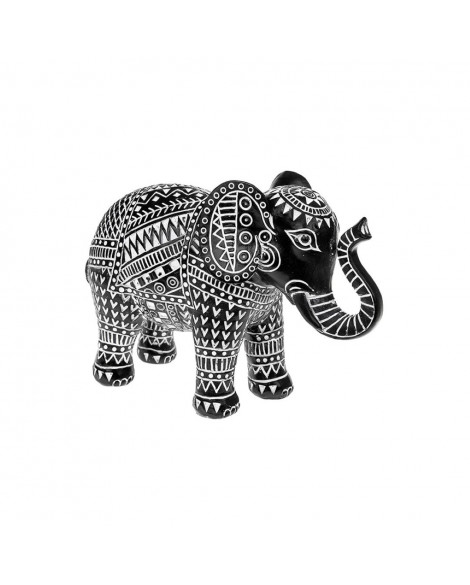 Elephant Azteca African Tribal Black & White