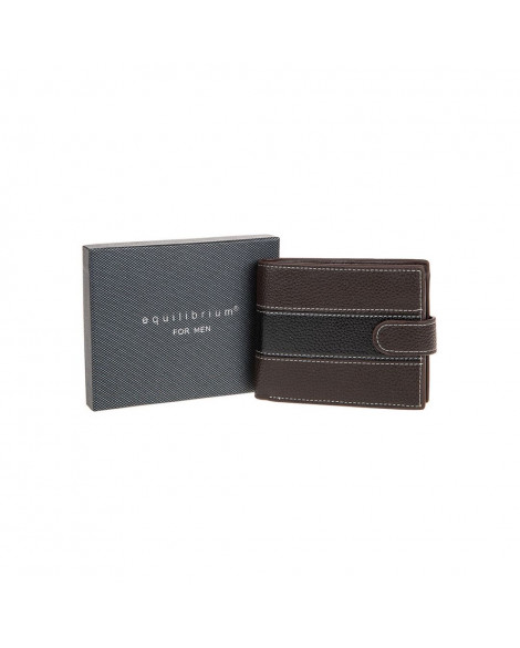 Equilibrium For Men Two Tone RFID Wallet Brown
