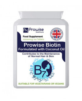 Biotin Formulated with Coconut 180 Tablets by Prowise Healthcare