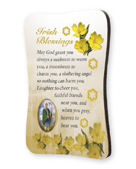 St Patrick's Day  Irish Blessing Wood Fridge Magnet