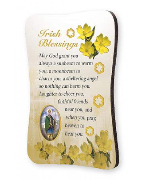 St Patrick's Day  Irish Blessing Wood Fridge Magnet