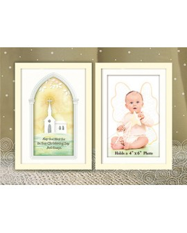 CHRISTENING BAPTISM PHOTO FRAME GLASS BOY GIRL