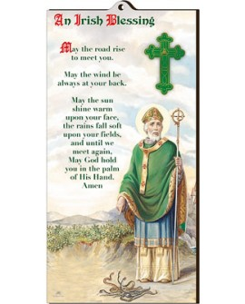 St Patrick's Day  Irish Blessing Wood Plaque