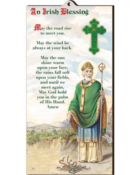St Patrick's Day  Irish Blessing Wood Plaque