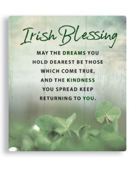 St Patrick's Day  Irish Blessing Plaque