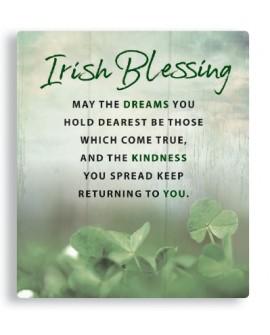 St Patrick's Day  Irish Blessing Plaque