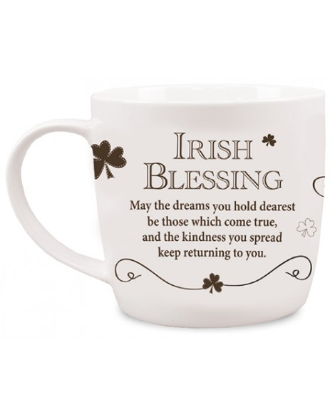 St Patrick's Day Mug Irish Blessing White