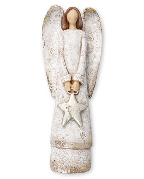 Angel Silver Star Shabby Chic