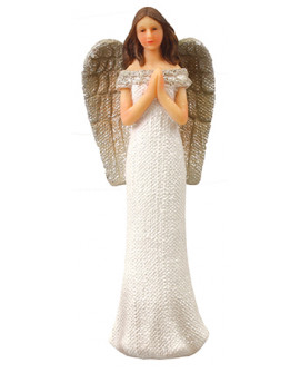 Angel Glitter Ornament  Praying Hands