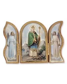 St Patrick's Day  Wood Folding  Triptych Plaque