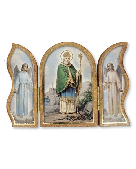 St Patrick's Day  Wood Folding  Triptych Plaque