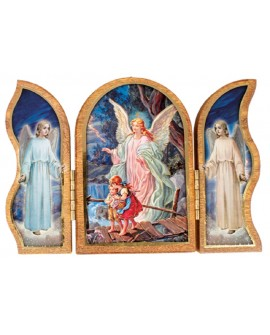 GUARDIAN ANGEL TRIPTYCH PLAQUE