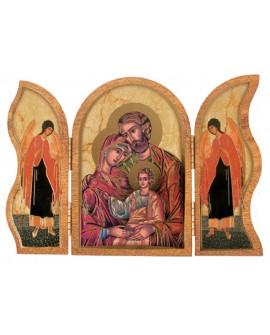 HOLY FAMILY TRIPTYCH PLAQUE