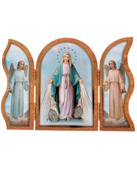 Miraculous Triptych Plaque