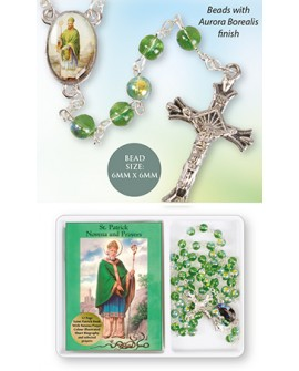 St Patrick's Day Rosary Beads & Prayer Book Set