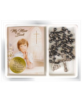 First Holy Communion Rosary & Prayer Book Set Boy