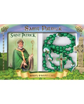 St Patrick's Day Rosary Beads & Booklet Set