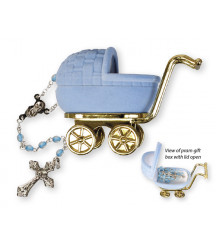 CHRISTENING BAPTISM BABY ROSARY BLUE