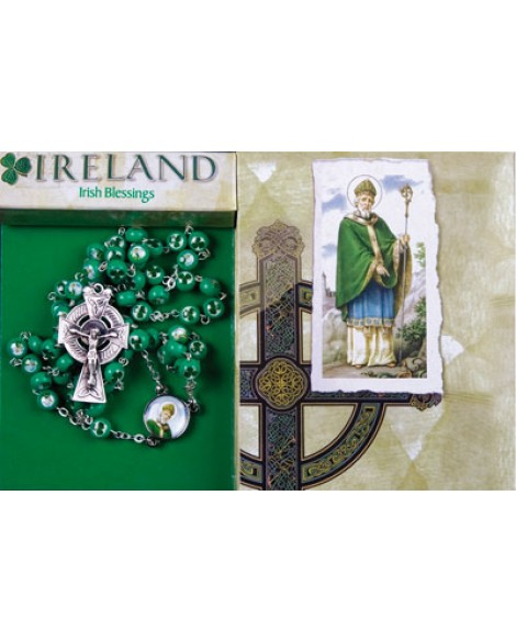 St Patrick's Day Rosary Beads & Celtic Cross