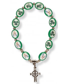 St Patrick's Day Bracelet Celtic Cross