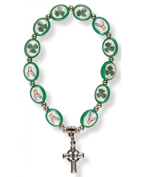 St Patrick's Day Bracelet Celtic Cross