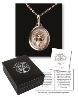 Sterling Silver Sacred Heart Necklace