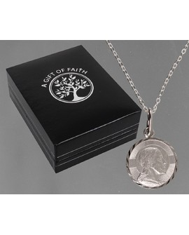 STERLING SILVER SAINT CHRISTOPHER NECKLACE