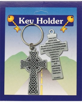 St Patrick's Day  Celtic Cross Key Ring