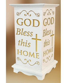 House Blessing Ornament Led Candle White
