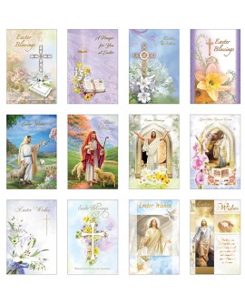 Easter Cards Pk 12 Different Designs