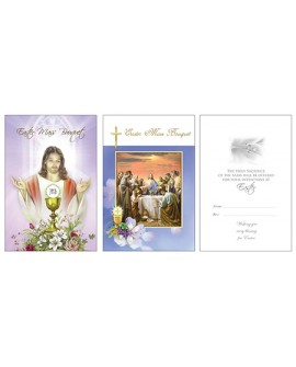 Easter Mass Card 2 Pk Different Designs