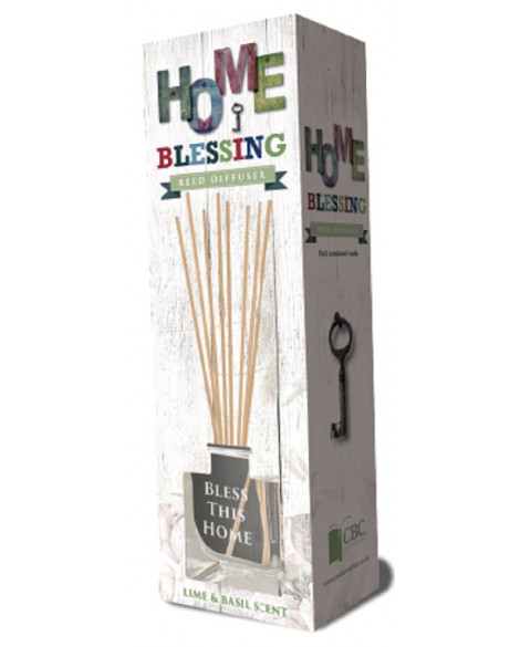 Home Fragrance Reed Diffuser Lime & Basil House Blessing