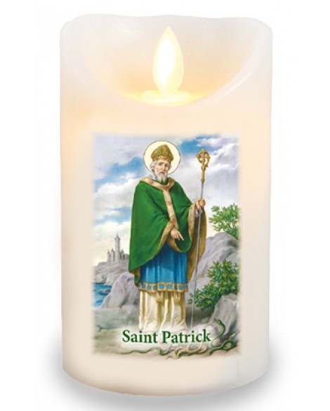 St Patrick's Day LED Candle Flickering Flame