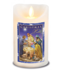 CHRISTMAS NATIVITY SCENE LED CANDLE