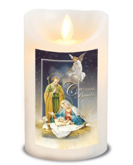 Christmas Nativity Scene Led Candle