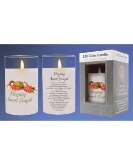 Sleeping Joseph LED Candle