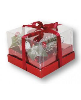CHRISTMAS SPARKLING CANDLE HOLDER & TEA LIGHT CANDLE SET