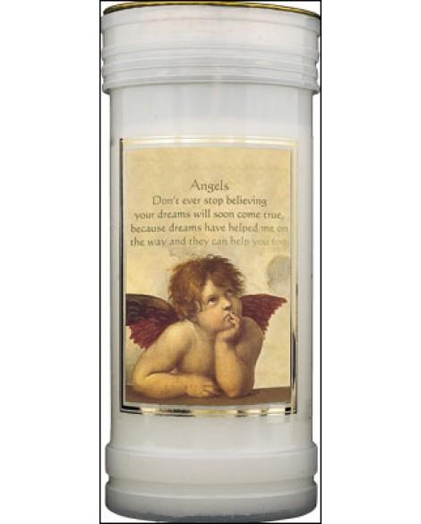 Guardian Angel Pillar Candle